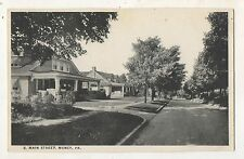South Main Street View MUNCY PA Vintage Lycoming County Pennsylvania Postcard