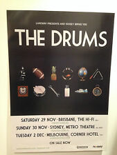 THE DRUMS 2014 Australian Tour Poster A2 Portamento Encyclopedia Summertime *NEW