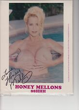 "ADULT MOVIE STAR ""HONEY MELLONS"" AUTOGRAPHED PHOTOCARD"