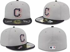 Cleveland Indians New Era 59FIFTY Diamond 4th of July Stars & Stripes Hat 7 7/8
