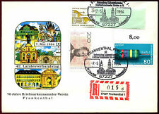 West Germany 1994, 70 Years Philatelist Club Frankenthal Registered Cover#C36554