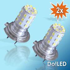 2x H7 33x 2835er SMD LED Nebelscheinwerfer Tagfahrlicht TFL Xenon Look Weiß 12V