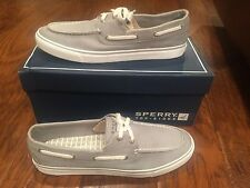 Women's Sperry Top-Sider Biscayne Grey Canvas Sneakers Size 11