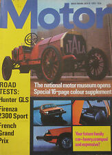 Motor magazine 8/7/1972 featuring Vauxhall Firenza road test, Hilman Hunter