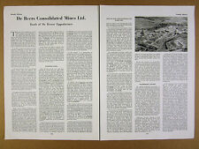 1958 De Beers Consolidated Mines Ltd Diamond Sales Outlook Activities article
