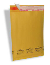 "250 #0 6.5X10 "" Ecolite "" X- Wide Kraft Bubble Mailers Padded Envelopes Bags"