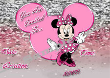 Minnie Mouse Party Invitations with matching envelopes, princess, 24 Pack