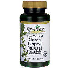 New Zealand Green Lipped Mussel 500 mg 60 Caps (Perna canaliculus) by Swanson
