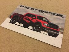 RARE Promo Card for 2011-2014 Ford F-150 SVT Shelby Raptor - MINT!
