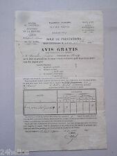 1889 LALANDE-D'AIROU (50) 2 Documents Service Vicinal + Assurance LA NORMANDIE