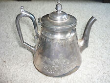 ANTIQUE SILVERPLATE HOLLOWWARE COFFEE/TEAPOT MERIDEN B COMPANY/ LATE 1800'S