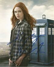 Karen Gillan as Amy Pond from Dr Who hand signed photo UACC AFTAL