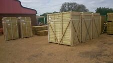 CLOSEBOARD FEATHEREDGE FENCE PANELS 4' X 6'  BRACED AND FRAMED SUPERB PANELS
