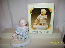 1990 PRECIOUS MOMENTS Baby's First Meal 524077 In Box