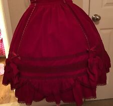 lolita skirt bow ribbon doll angelic pretty m harajuku cosplay princess velvet