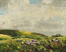 Original landscape oil on board painting On The Glyn, by Geoff Dawson