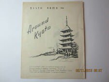 """WWII Sketches General Krueger's Sixth Army Japan Occupation-""""Around Kyoto"""""""
