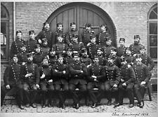 Photo. 1870s. Oslo, Norway. Christiania Brand Corps - military