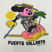 VTG 60s 70s MICKEY MOUSE Mexico SCENIC Surf BEACH S Disney T Shirt Tourist