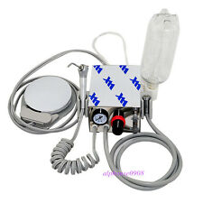 Portable Mini Dental Turbine Unit Work With Compressor 4 Holes + Water Bottle
