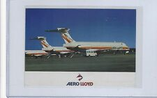 Aero Lloyd airlines issued MD-83 fleet cont/l postcard