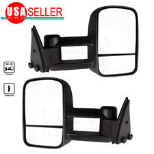 for 88-98 Chevy GMC C1500 C2500 K3500 Pickup Manual Tow Side Towing Mirrors Pair