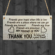 MY FRIEND IS YOU Plaque Sign Friendship Funny Wooden Gift Birthday Thank You NEW