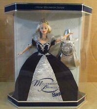 1999 Happy Holiday Barbie Doll Millennium Princess Happy New Year 2000 Ball (P3)