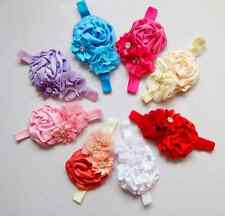 8pcs Flower Baby Toddler Girl Infant Headband Hair Bow Band Accessories