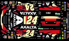 #24 Jeff Gordon AXALTA Chevy 1/64th HO Scale Slot Car Waterslide Decals