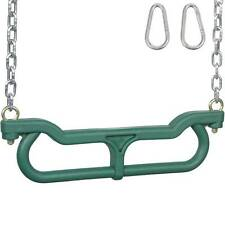 SWING SET STUFF COMBO TRAPEZE WITH 3 FT UNCOATED CHAIN GREEN accessories 0263