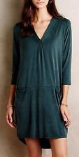 "***NEW ANTHROPOLOGIE  DOLAN ""TEGAN"" TUNIC DRESS IN DARK GREEN SIZE X-SMALL XS***"