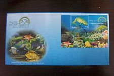 Malaysia 2001 Stamp Week Marine Life Series V stamp MS FDC