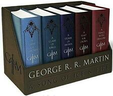 GAME OF THRONES BOX SET ~ A SONG OF ICE & FIRE ~ COMPLETE SERIES ~ LEATHER BOUND