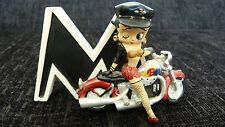 Westland Giftware Betty Boop Alphabet Letter M -  Figure 6753 Motorcycle *RARE *