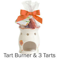 YANKEE CANDLE TART BURNER GIFT SET inc 3 FRUIT TARTS orange oil warmer