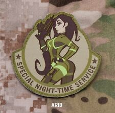 SPECIAL NIGHT-TIME SERVICE ARDTACTICAL COMBAT BADGE MORALE MILITARY PATCH