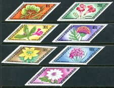 MONGOLIA 1975 MEDICINAL PLANTS - MEDICINE - FLORA SET OF 7 DIAMOND SHAPED STAMPS