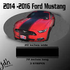 2014 2015 2016 Ford Mustang Wide Rally Racing Stripe Vinyl Decal Graphics Kit