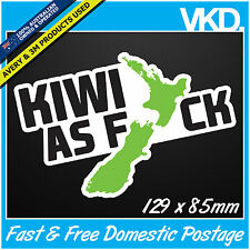 Kiwi As FCK Sticker/ Decal - Drift Car Turbo NZ New Zealand Maori 4x4 Fast Vinyl