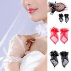 Popular Sexy Lace Wrist Fingerless Wedding Evening Party Bridal Short Gloves