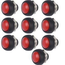 5pcs Red 12mm Waterproof Momentary ON/OFF Push Button Mini Round Switch