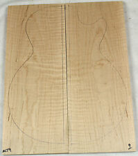 "Tiger stripe curly maple carve top for electric guitar or bass 7.6x19x.94"" MCT9"