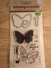 Hero Arts Clear Stamps w/Matching Dies Butterflies DC134 New
