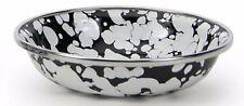 """Golden Rabbit White on Black Enamelware 4.25"""" Tasting Dish Tapas Bowl"""