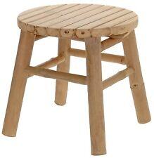Hocker Sitzhocker Fußhocker Beistelltisch Holzhocker Bambus Naturfarbend V080
