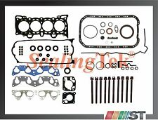 92-95 Honda D15Z1 D16Z6 VTEC Engine Full Gasket Set w/ Head Bolts Kit SOHC Motor