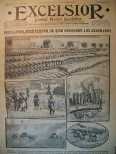 WW1 N° 1997 VERDUN STOCK MUNITIONS FRONT ITALIEN JOURNAL EXCELSIOR 1916