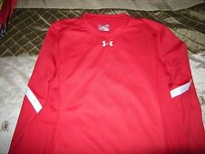 Brand New Mens Red Under Armour Cold Gear Loose Fit Shirt, Size XXL