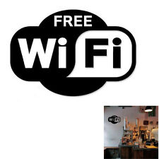 Free WIFI Café Shop Public Cool Wall Art Stickers Decals Vinyl Home Room Decor